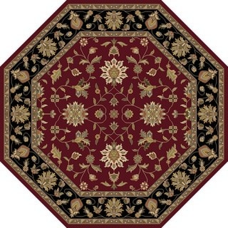 Hand-Tufted Selsey Border Indoor Wool Rug (8' Octagon)
