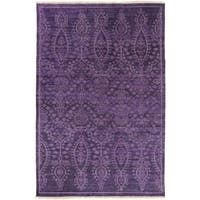 Hand Knotted Fori New Zealand Wool Area Rug - 5'6 x 8'6