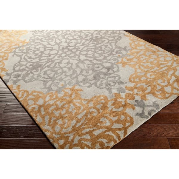 Hand Knotted Folsom New Zealand Wool Area Rug 7 9 X 9 9 On Sale Overstock 11158331