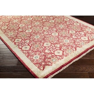 Hand Knotted Fox Wool Area Rug - 8' x 11'