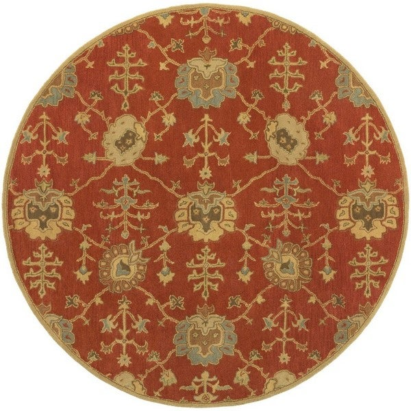 Gracewood Hollow Luther Hand-tufted Wool Area Rug - 6' Round
