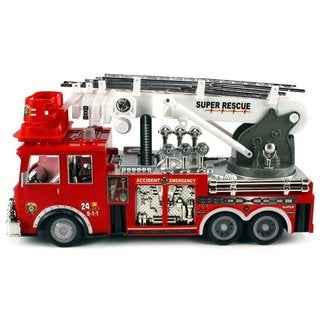 Velocity Toys Super RC Rescue Fire Truck with Working Siren Lights