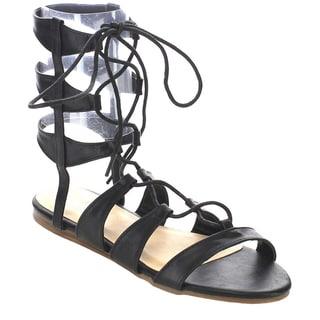 Beston FA76 Women's Gladiator Flat Sandals