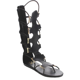BETANI FA77 Women's Comfort Thong Design Midcalf Open Toe Gladiator Back Zip Sandals