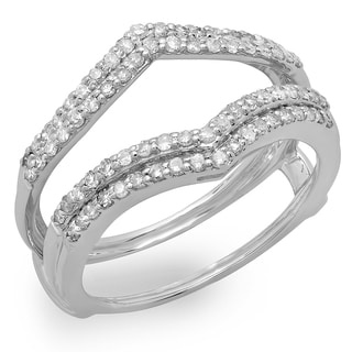 14k White Gold 1/2ct TDW Diamond Anniversary Wedding Band Enhancer Guard (H-I, I1-I2)