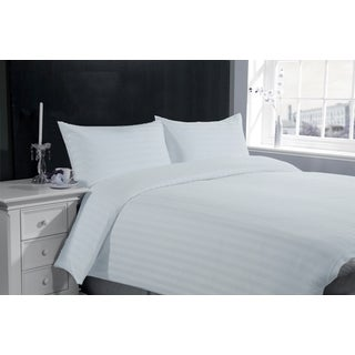 Hotel Collection Stripe 300TC Cotton 3-piece Duvet Cover and Pillow Case Set