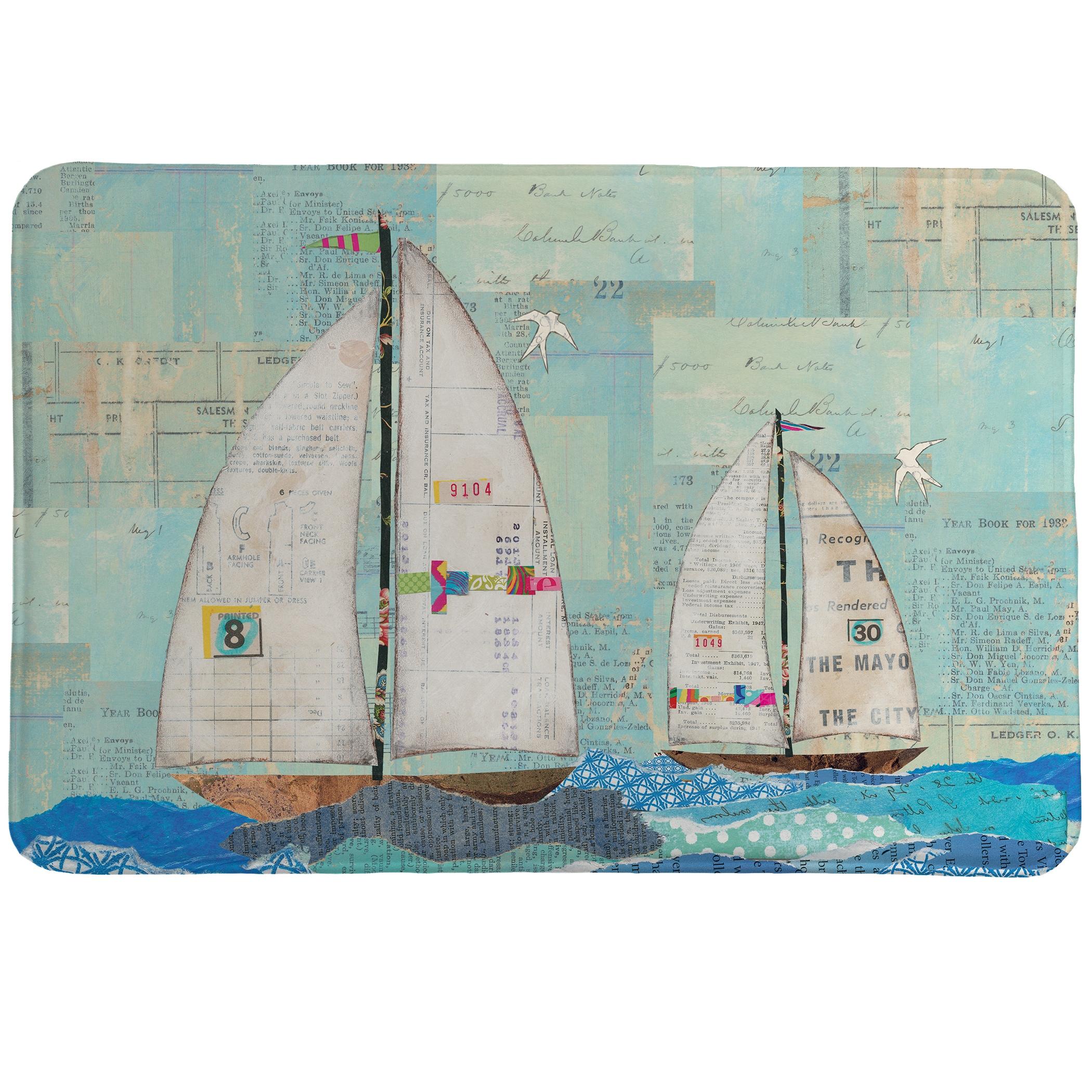 "Laural Home Sailing the Seas Memory Foam Rug (20"" x 30""),..."