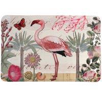 Tropical Flamingo Memory Foam Rug
