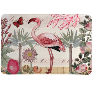 Tropical Flamingo Memory Foam Rug - 20 x 30