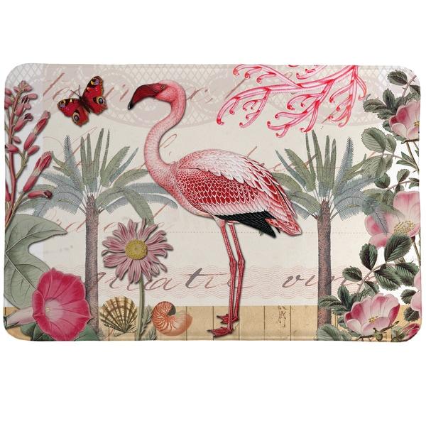 Tropical Flamingo Memory Foam Rug - 20 x 30