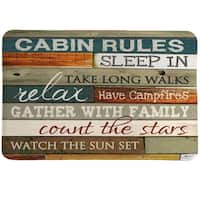 Rules of the Cabin Memory Foam Rug - 20 x 30