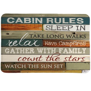 Rules of the Cabin Memory Foam Rug - 20 x 30