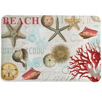 Dream Beach Shells Collage Memory Foam Rug