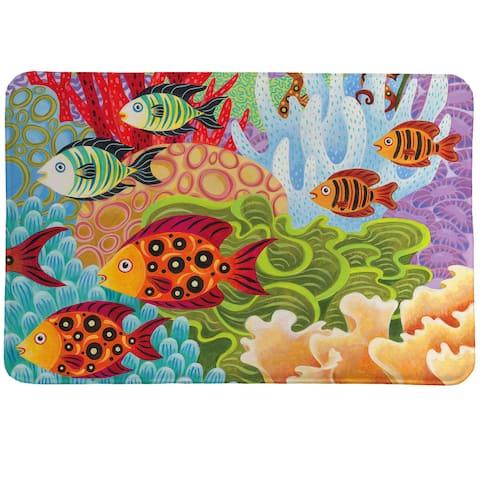 Colorful Fish Memory Foam Rug - 20 x 30
