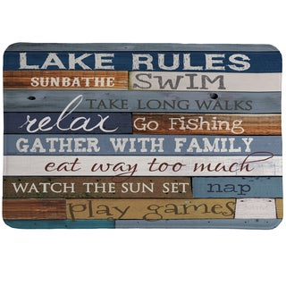 Rules of the Lake Memory Foam Rug