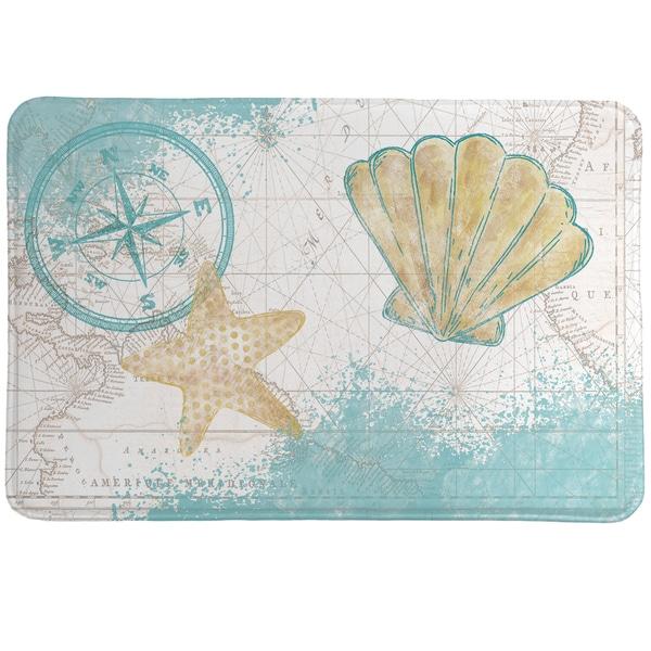 Nautical Watercolor Memory Foam Rug