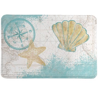 Nautical Watercolor Memory Foam Rug
