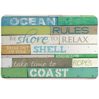 Rules of the Ocean Memory Foam Rug - 20 x 30