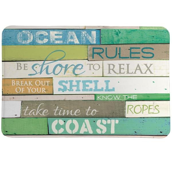Rules of the Ocean Memory Foam Rug - 20 x 30