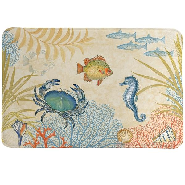 Sea Creatures Memory Foam Rug