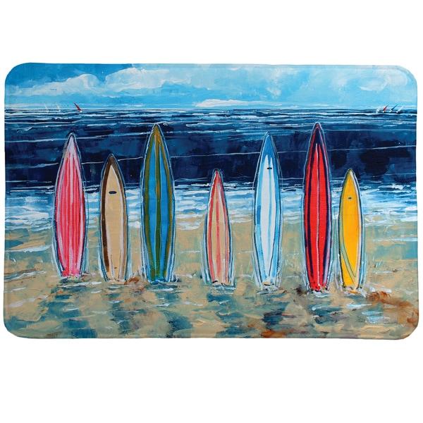 Summer Surfboards Memory Foam Rug
