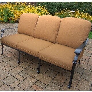 Sunbrella Aluminum Deep Seating Sofa with Durable Cushions For The Seat and Back