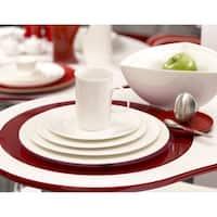 "Pure Vanilla Rimmed Oversized Dinner Plate 11.75"" (Set of 2)"