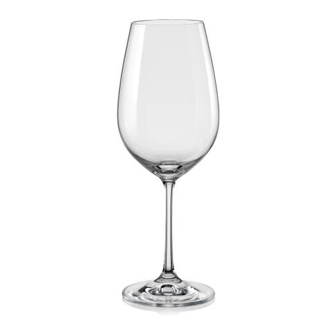 Red Vanilla Viola All-purpose Wine Glasses (Set of 6)