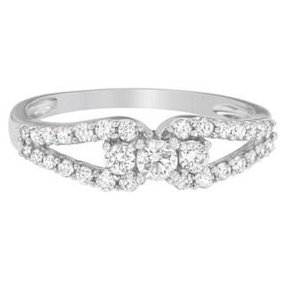 10k White Gold 1/2ct TDW Round Diamond Ring (H-I, SI1-SI2)