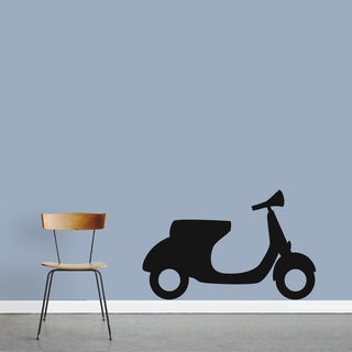 Motor Scooter Wall Decal (36 x 22)