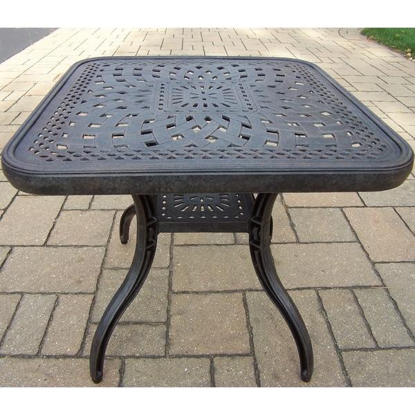 Premium Aluminum Rust-resistant 24-inch Square Side Table