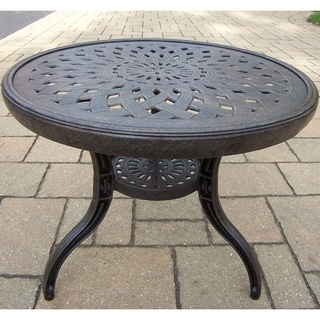 Plymouth 21-inch Round Side Table with Rust-free Aluminum Construction