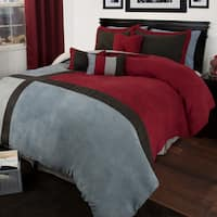 Windsor Home Rhea 7 Piece Suede Comforter Set