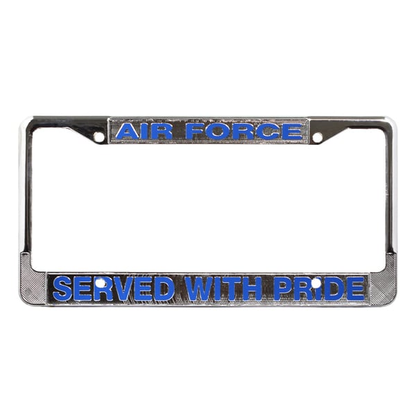 Shop Us Air Force Veteran License Plate Frame On Sale Free