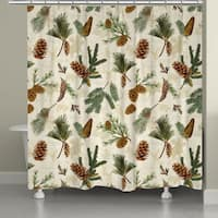 Evergreen Pinecones Shower Curtain