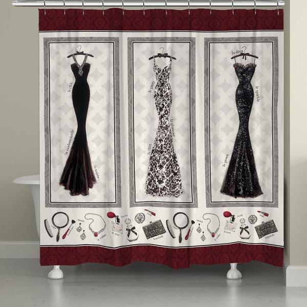 Shop Merlot Fashion Shower Curtain