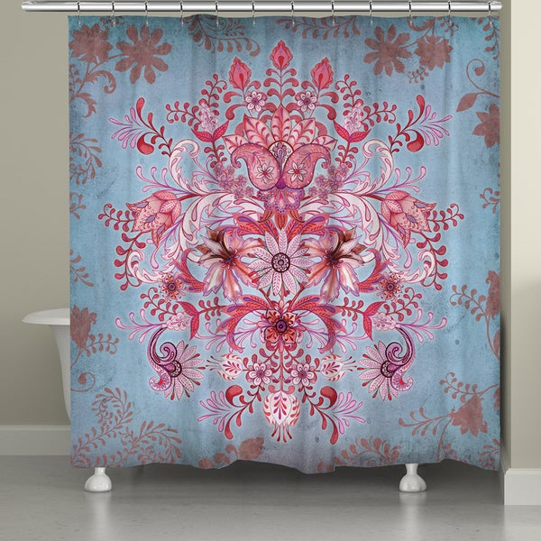 Shop Pink Bohemian Shower Curtain Free Shipping Today Overstock