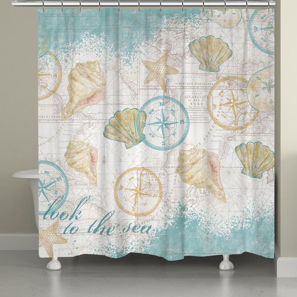 Nautical Watercolor Shower Curtain