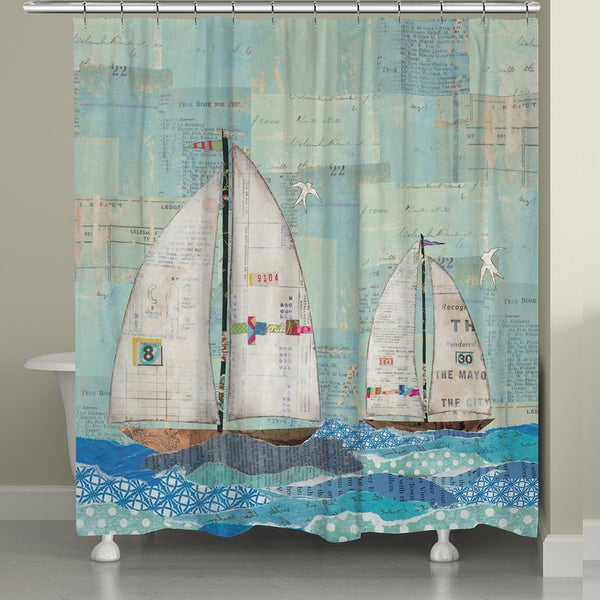 Sailing the Seas Shower Curtain