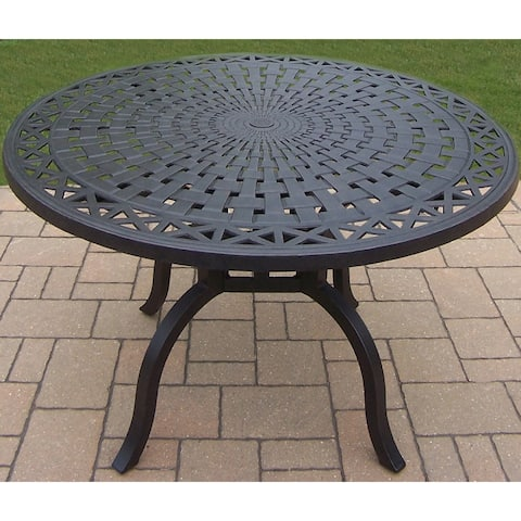 Buckingham Cast Aluminum 48-inch Round Dining Table