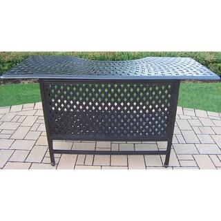 Buckingham Cast Aluminum Bar Table with Inner Shelf