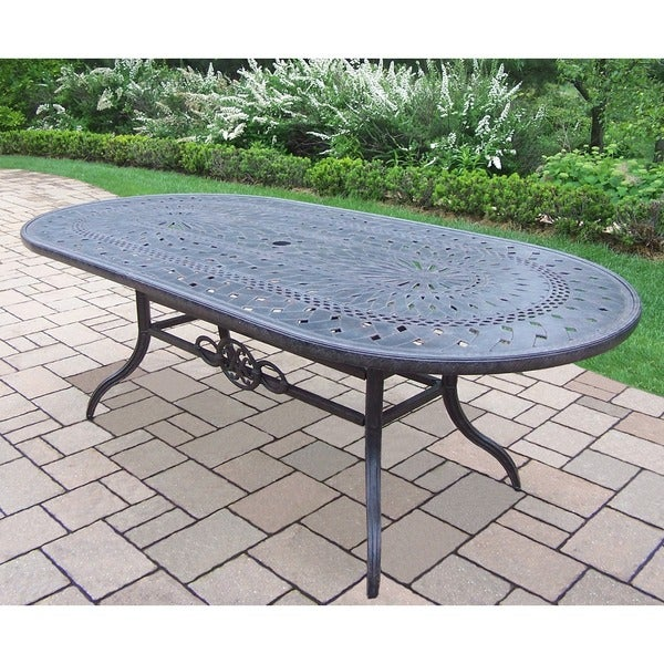Plymouth Cast Aluminum 84 X 42 Inch Oval Dining Table