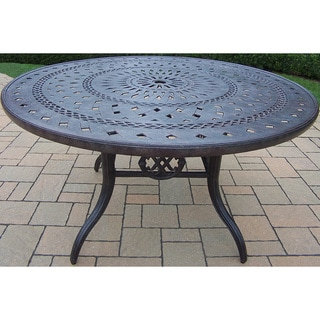 Plymouth Cast Aluminum 54-inch Round Dining Table