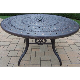 Premium Plymouth Aluminum 46-inch Round Dining Table