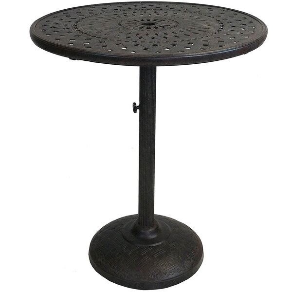 Premium 36 inch Bar Table with Cast Aluminum Top and  : Premium 36 inch Bar Table with Cast Aluminum Top and Strong Cast Iron Base and Built in Umbrella Stand 28be5baf 216c 40a3 8254 854c2a03a75c600 from www.overstock.com size 600 x 600 jpeg 34kB