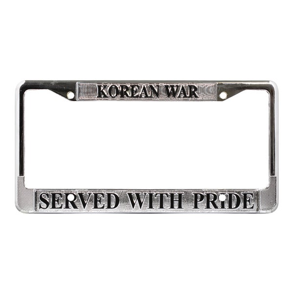 US Korean War Veteran License Plate Frame