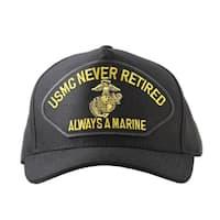 US Marine Corps Never Retired Always A Marine Cap