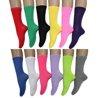 Frenchic Women's Fun and Colorful Crew Socks (Pack of 12 Pairs)|https://ak1.ostkcdn.com/images/products/11158823/P18154907.jpg?_ostk_perf_=percv&impolicy=medium