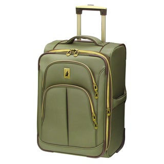 London Fog Coventry Spruce 21-inch Expandable Carry On Rolling Upright Suitcase