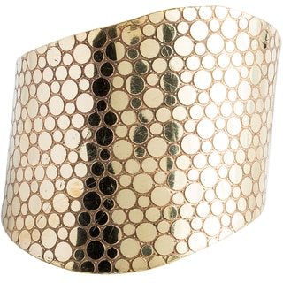 Goldtone Brass Circle Cuff (India)
